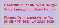Constitution of the West Bengal State Emergency Relief Fund